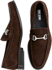 Stacy Adams Flynn Chocolate Brown Suede Moc Toe Loafers