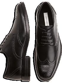 Joseph Abboud Black Wingtip Lace-Up Shoes