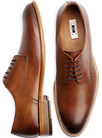 Joseph Abboud Baywood Brown Lace Up Dress Shoes