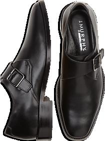 Johnston & Murphy Novick Black Monk Strap Shoes