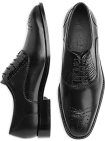 Belvedere Como Black Alligator Lace-Up Shoes