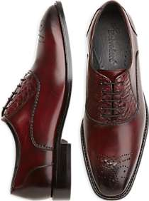 Belvedere Como Burgundy Alligator Lace-Up Shoes
