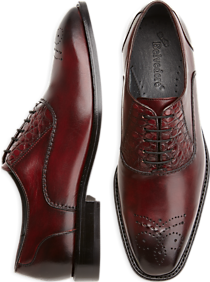 Belvedere Como Burgundy Alligator Lace-Up Shoes