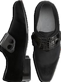 Belvedere Fede Black Velvet Dress Loafers
