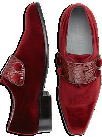 Belvedere Fede Burgundy Velvet Dress Loafers