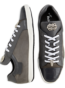 Belvedere Toro Gray Crocodile Lace-Up Sneakers