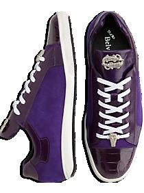 Belvedere Toro Purple Crocodile Lace-Up Sneakers