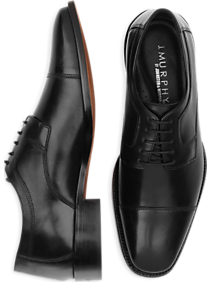 J. Murphy by Johnston & Murphy Novick Black Cap Toe Lace Up Shoes