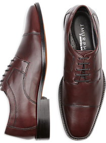 J. Murphy by Johnston & Murphy Novick Burgundy Cap Toe Lace Up Shoes