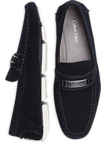 Calvin Klein Mario Navy Suede Driving Loafers