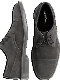 Calvin Klein Upton Gray Suede Cap-Toe Shoes