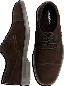Calvin Klein Upton Brown Suede Cap-Toe Shoes