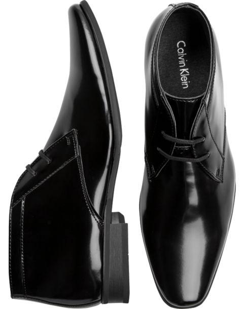 Calvin Klein Ballard Black Tuxedo Boot - Men\'s Formal Shoes ...