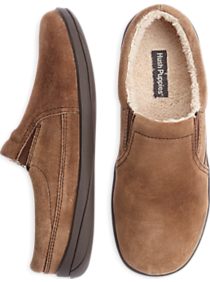 Hush Puppies Brown Suede Slippers