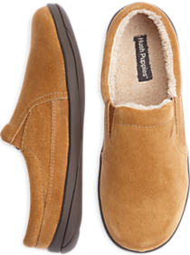 Hush Puppies Tan Suede Slippers