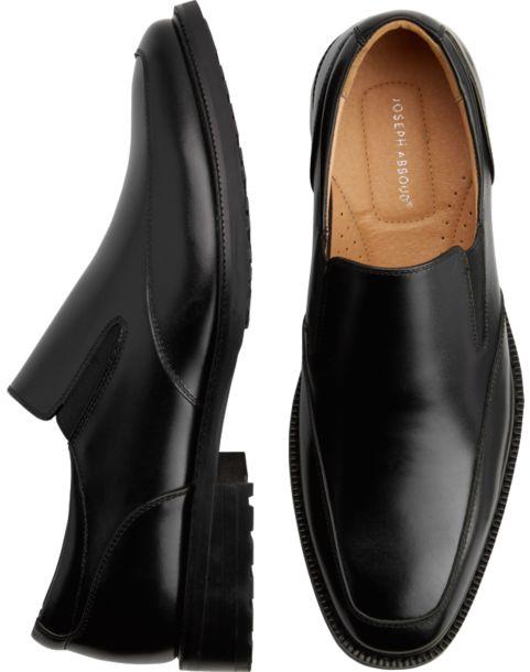 joseph abboud eastman black slip on shoes s dress