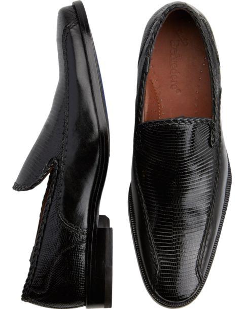 Belvedere Karmine Black Slip-On Shoes - Men's $369.99 Designer ...