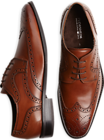 Florsheim Tan Wingtip Lace-Up Shoes