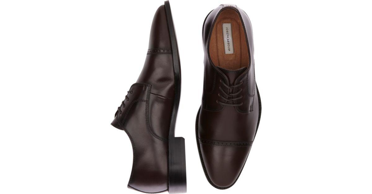 Joseph Abboud Calvin Burgundy Cap Toe Lace Up Shoes