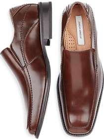 Joseph Abboud Brown Slip-On Shoes