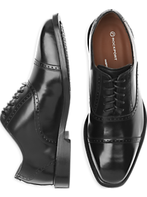 Rockport Fair Oaks Black Cap Toe Lace Up Shoes