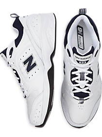 New Balance Fitness White and Navy Athletic Shoes