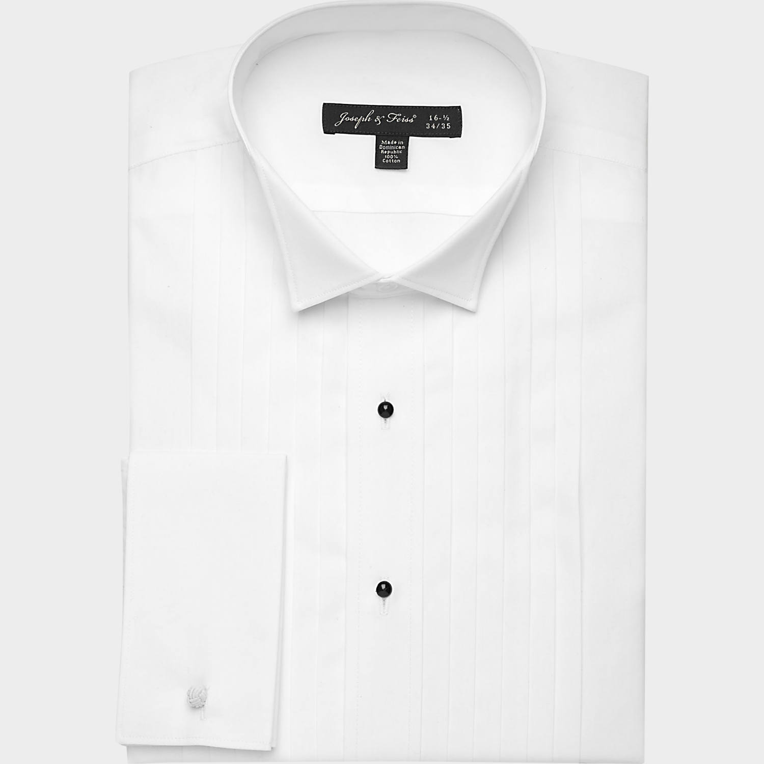 Joseph & Feiss Formal White Tuxedo Classic Fit Shirt - Men's ...