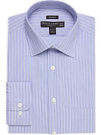 100% Egyptian Cotton Blue Stripe Modern Fit Non-Iron Dress Shirt