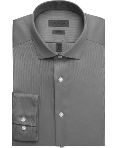 calvin klein gray slim fit non iron dress shirt men 39 s
