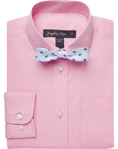 Joseph & Feiss Boys Pink Shirt & Bow Tie Set - Men's Shirt & Tie ...