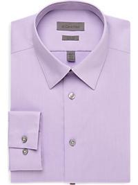 Calvin Klein Lavender Textured Slim Fit Non-Iron Dress Shirt