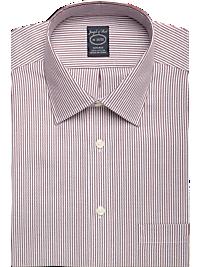 Joseph & Feiss Wine Stripe Modern Fit Non-Iron Dress Shirt