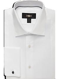 Joseph Abboud White Modern Fit Tuxedo Dress Shirt