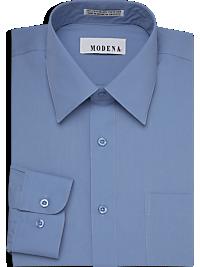 Modena Blue Slim Fit Dress Shirt