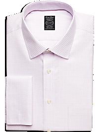 Pronto Uomo Platinum French Cuff Modern Fit Non-Iron Dress Shirt, Lavender Check