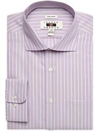 Joseph Abboud Pink Stripe Modern Fit Non-Iron Dress Shirt