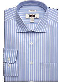 Joseph Abboud Blue Stripe Modern Fit Non-Iron Dress Shirt