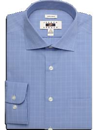 Joseph Abboud Blue Check Modern Fit Non-Iron Dress Shirt