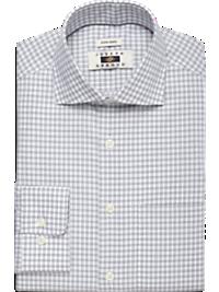 Joseph Abboud Charcoal Check Modern Fit Non-Iron Dress Shirt