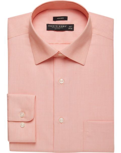 Pronto Uomo Coral Dress Shirt - Men's Modern Fit | Men's Wearhouse