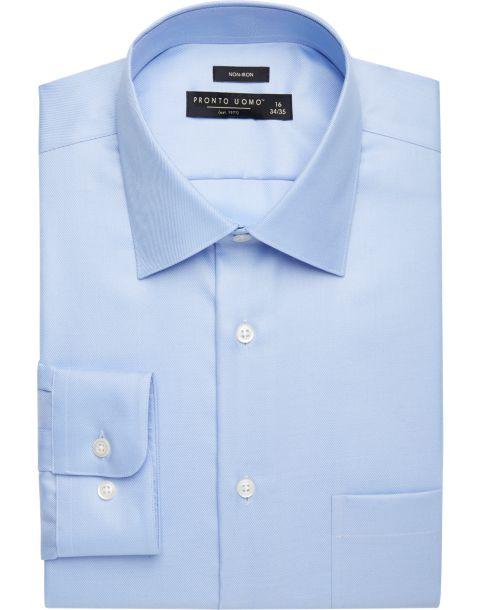 Pronto Uomo Light Blue Dress Shirt - Men's Classic Fit | Men's ...