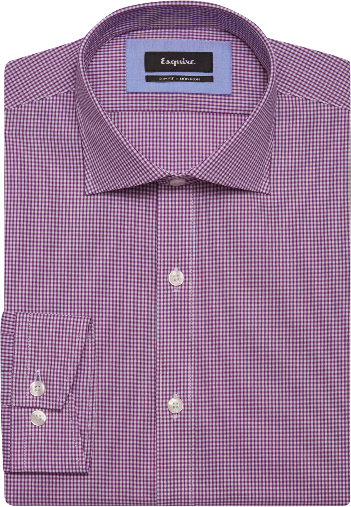 Esquire Pink Check Slim Fit Dress Shirt - Men's $369.99 Designer ...