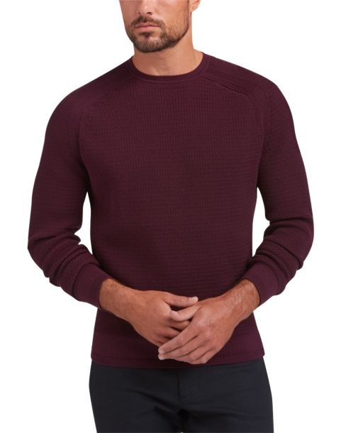 Awearness Kenneth Cole AWEAR-TECH Burgundy Sweater - Men's Modern ...
