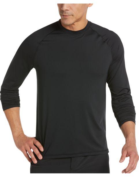 Joseph Abboud Black Long Sleeve Activewear Shirt - Men's Athletic ...