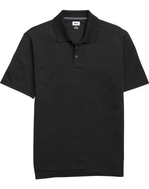 Joseph Abboud Black Pima Cotton Polo Shirt - Men's $389.99 Calvin ...