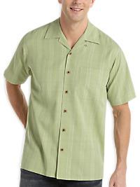 Joseph & Feiss Celery Silk Camp Collar Shirt