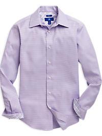 Egara Lavender Patterned Slim Fit Sport Shirt