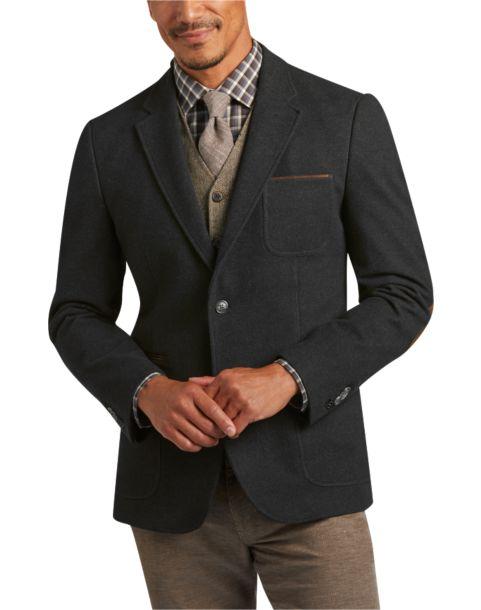 Joseph Abboud Charcoal Casual Coat - Men's Casual Coats | Men's ...