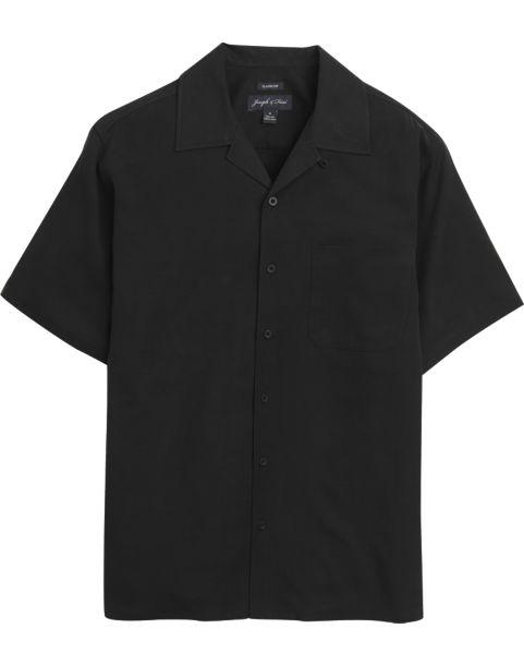Joseph & Feiss Black Silk Camp Shirt - Men's Camp Shirts | Men's ...