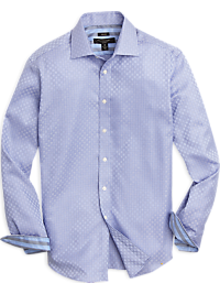 Pronto Uomo Blue Weave Pattern Modern Fit